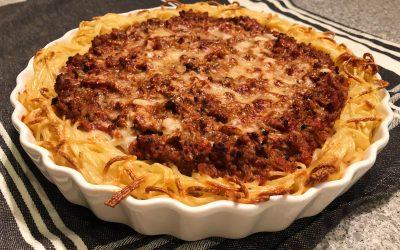 Spaghetti- och köttfärssåspaj