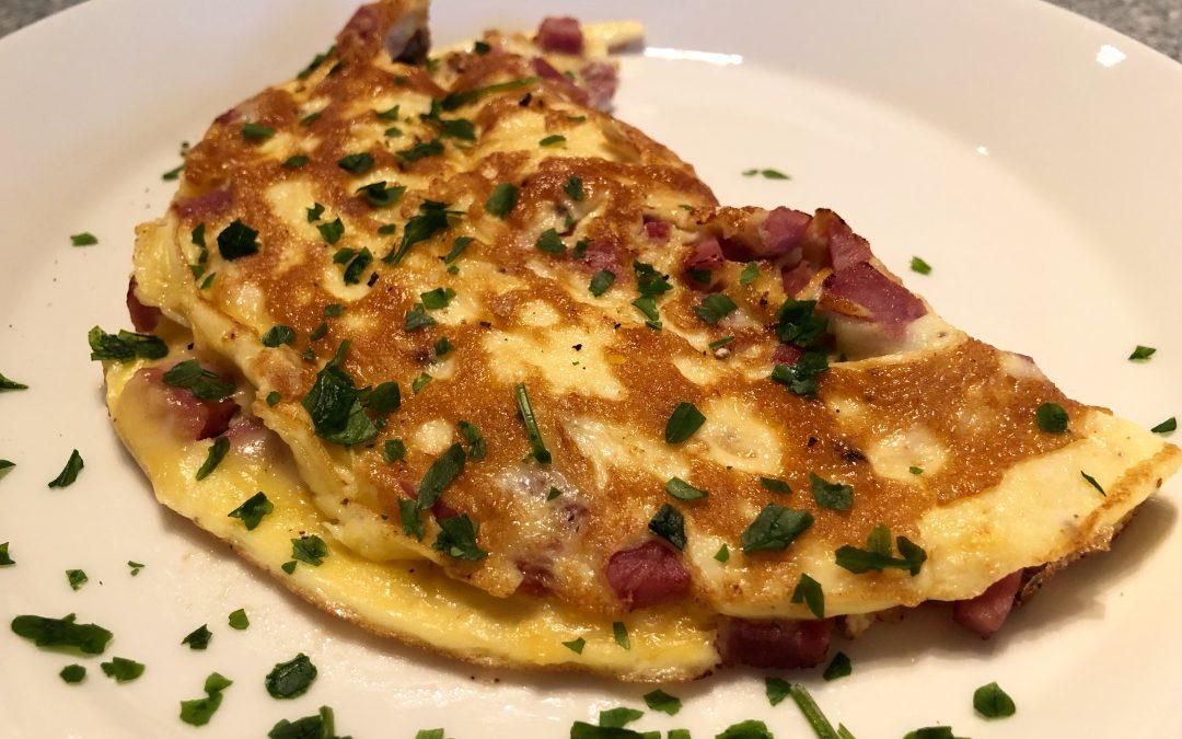 Omelett med julskinka