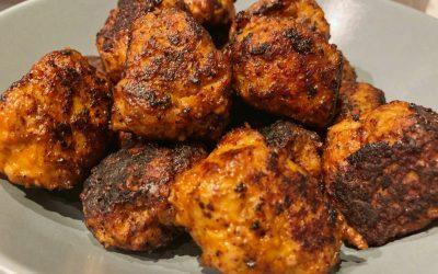 Kycklingbullar med pesto