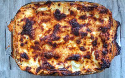 Krämig lasagne med bacon