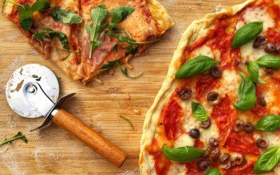 Pizza med durumvete på grillen