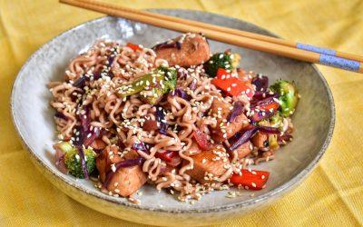 Kyckling teriyaki wok