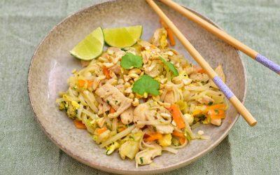 Pad thai med morot och vitkål