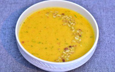 Sötpotatissoppa med morot, lime och chili