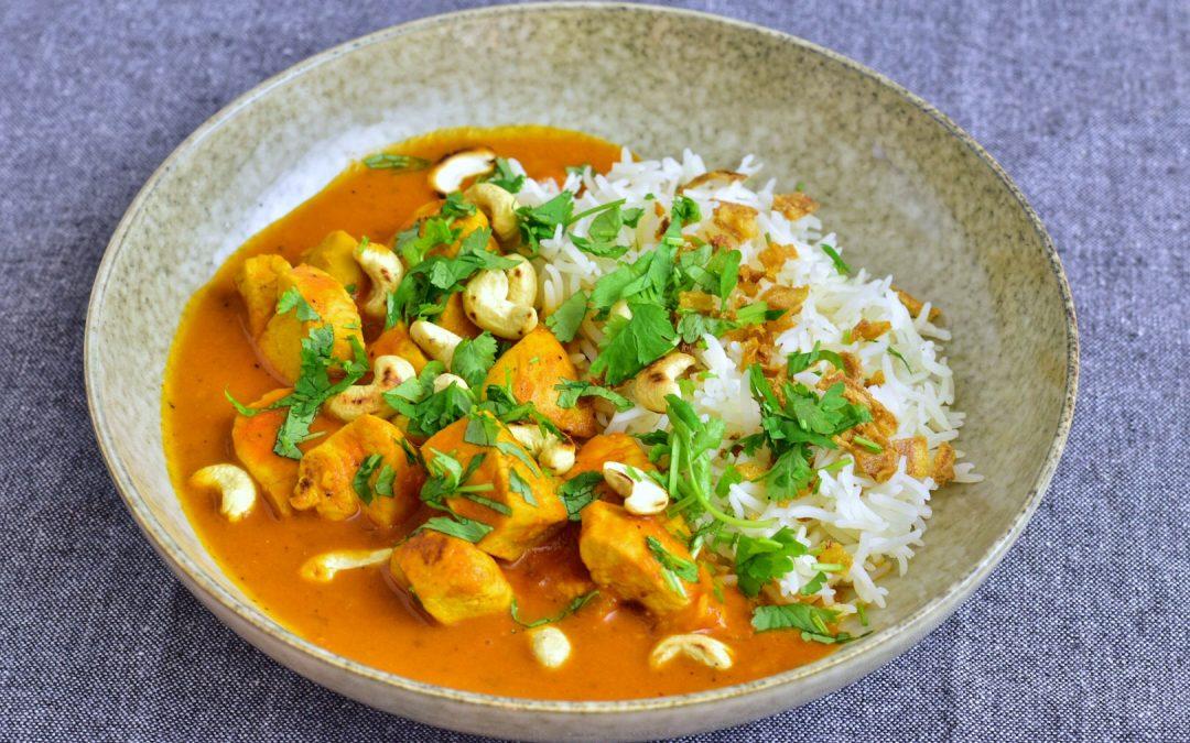 Kycklinggryta med curry och garam masala