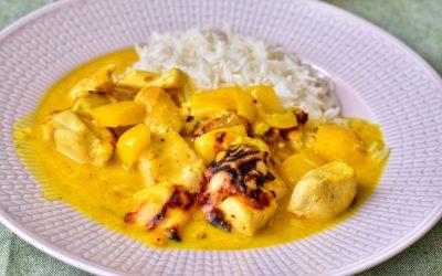 Mango- och currykycklinggratäng