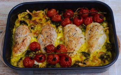 Pastagratäng med curry och kyckling