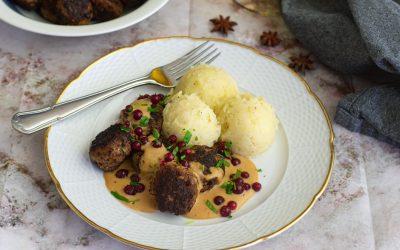 Julköttbullar med julig gräddsås